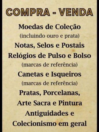Foto 1 de Vasco lopes - Numismatica e Antiguidades, lda COMPRA E VENDA (AVALIADOR OFICIAL)