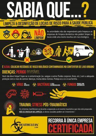 Foto 1 de DEATHCLEAN - Limpeza e Desinfeção Especializada