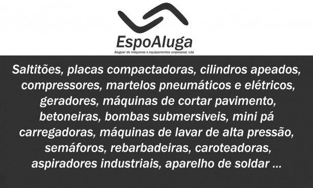 Foto 1 de Espoaluga - Aluguer de Máquinas e Equipamentos Unipessoal Lda